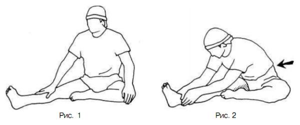 Растягивание задних мышц бедра