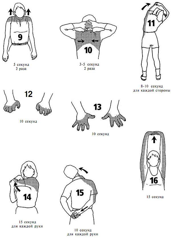 Настольный теннис, упражнения на растяжку «ПОСЛЕ» занятий