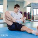 Упражнение для растяжки твёрдых связок голеностопа.