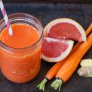 Детокс рецепт: Сок из мандарина, моркови и грейпфрута