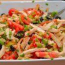 Салат из курицы с сельдереем и чёрными оливками