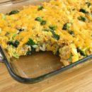 Запеканка рисовая с сыром и брокколи